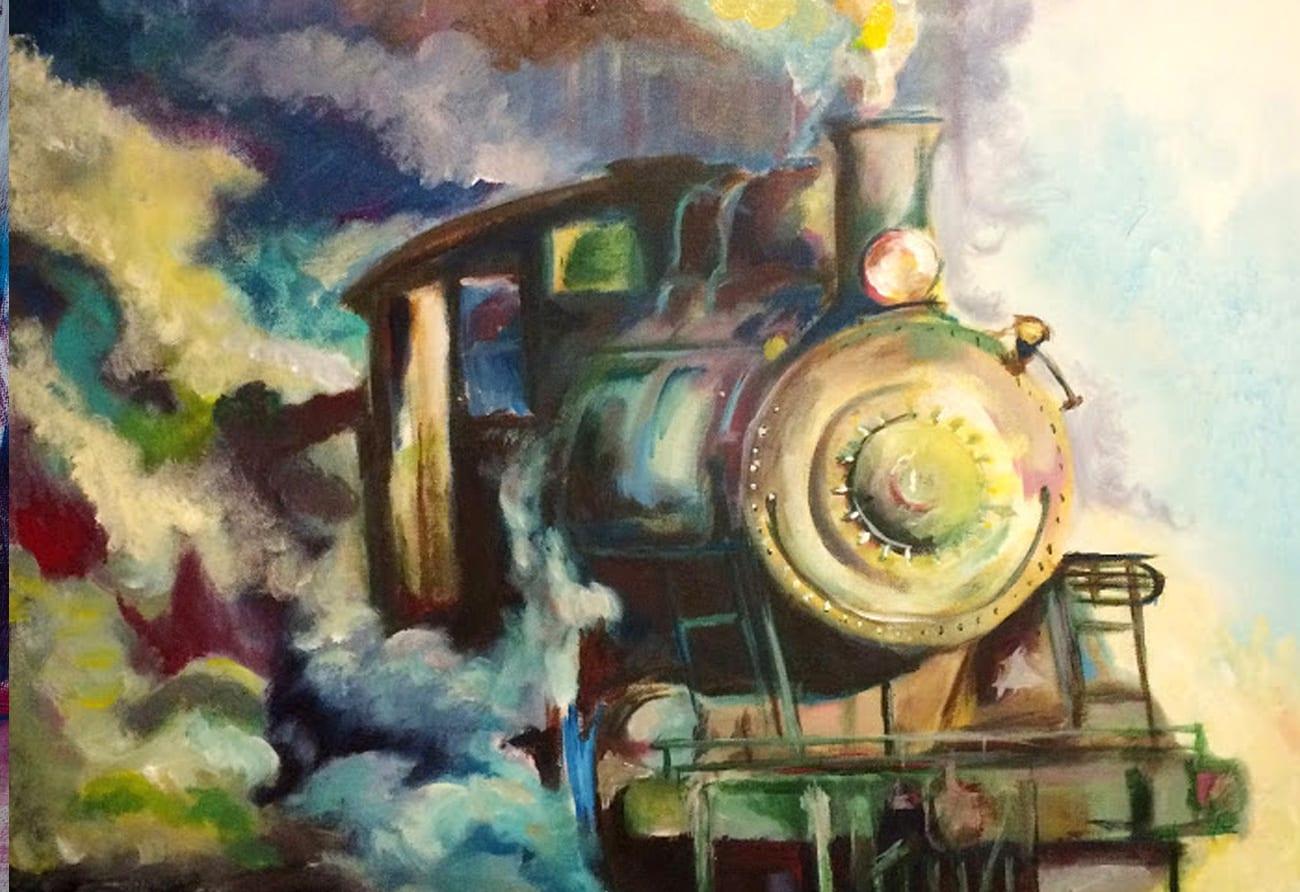 train-moving-forward