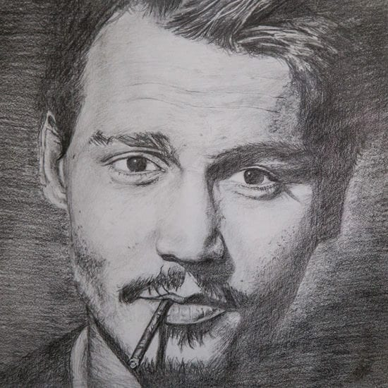johnny-depp-pencil-drawing