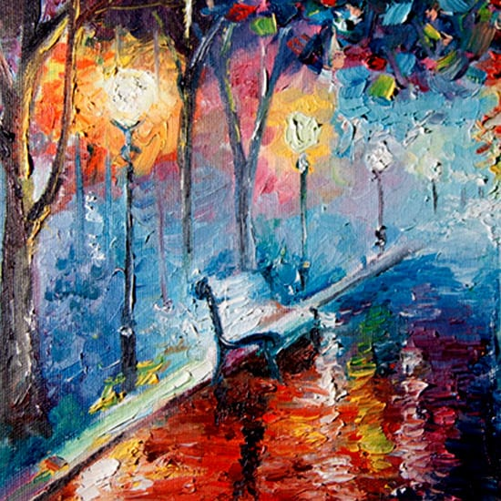 park-bench-acrylic-painting